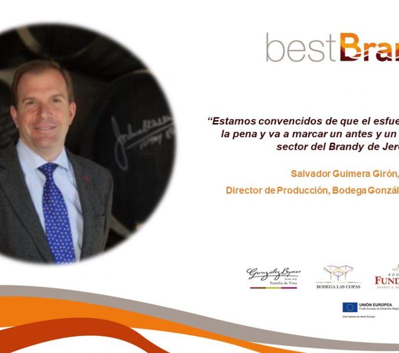 Entrevista a Salvador Guimera Girón, coordinador de la Comisión Técnica de la PTV y director de la Bodega González Byass Jerez, sobre el proyecto bestBrandy