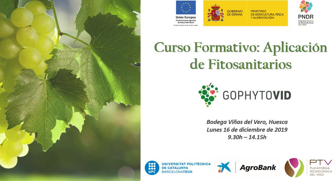 """El próximo 16 de diciembre se impartirá el curso """"Aplicación de Fitosanitarios"""" en el marco del proyecto GOPHYTOVID"""