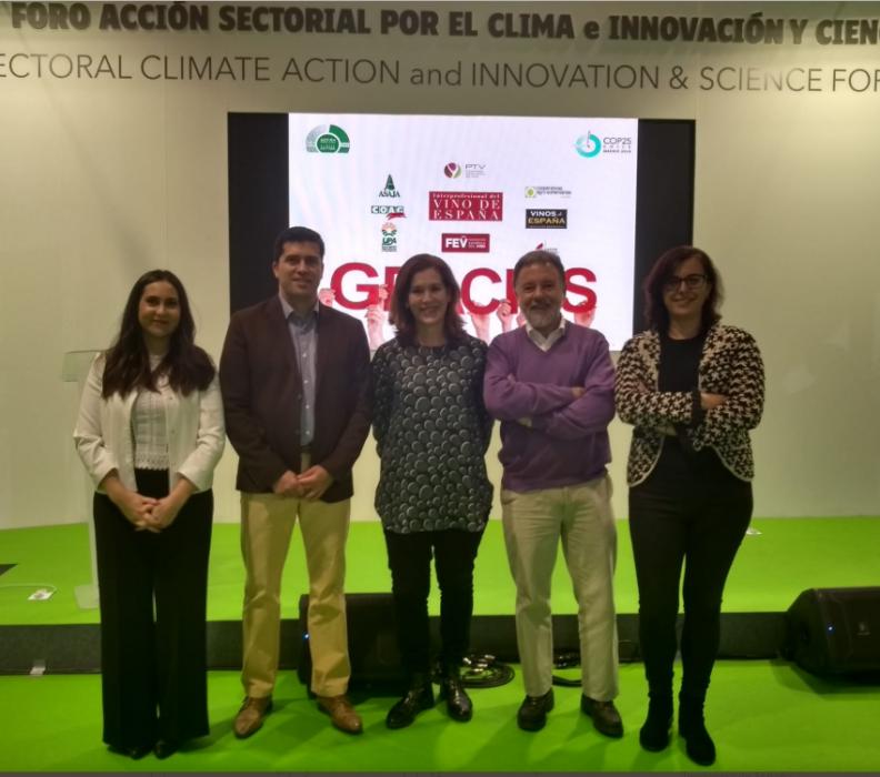El sector vitivinícola español participa en la Cumbre sobre Cambio Climático (COP25) de Madrid