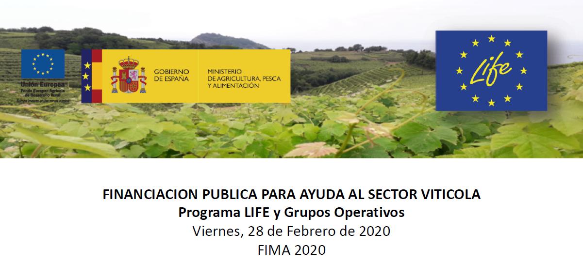 Financiación Pública para ayuda al sector vitícola (Programa Life y grupos Operativos)