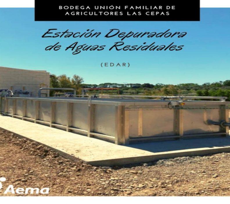 AEMA instala la nueva estación depuradora de aguas residuales industriales de Bodegas Las Cepas en Aldeanueva de Ebro (La Rioja)