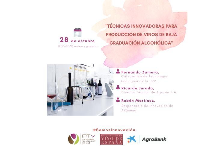 """Webinar """"Técnicas innovadoras para producción de vinos de baja graduación alcohólica"""""""